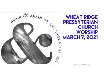 2020-03-07 WRPC Worship Service