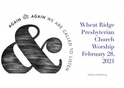 2021-02-28 WRPC Worship Service