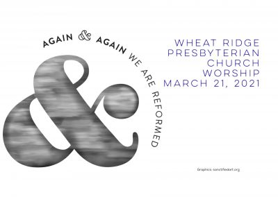 2021-03-21 WRPC Worship Service